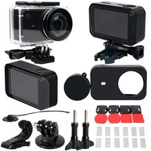 Top 30 In 1 Action Camera Accessory Kit For Xiaomi Mijia Waterproof Case Frame Lens Cap Film Adapter For Xiaomi Mijia Camera все цены