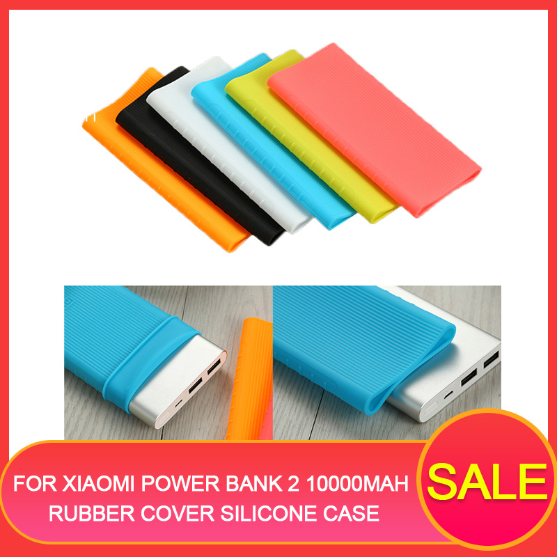 Case For Xiaomi Power Bank 2 10000mAh Rubber Cover Silicone Case For 2018 Powerbank Protector Case Scratchproof 147×71.2×14.2mm image