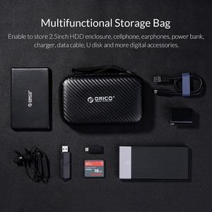 Image 2 - Защитный чехол ORICO для внешнего аккумулятора HDD SSD, встроенный внутренний сетчатый слой для кабеля USB, аксессуары для наушников