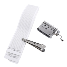 30-Note Tapes Hand Crank Music Mechanical Musical Box With Hole Puncher 3 Strips Create Your Own Diy