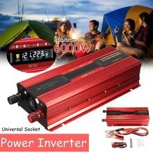 Araç invertörü 12V 220V 6000W P eak güç inverteri voltaj dönüştürücü trafo 12 V/24 V 110V /220V Inversor evrensel/abd Plug