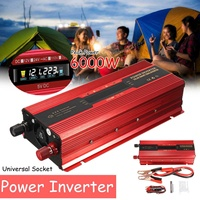 Car Inverter 12V 220V 6000W P eak Power Inverter Voltage Convertor Transformer 12V/24V 110V/220V Inversor Universal/US Plug