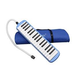 32 teclas melodica piano teclado melodica 5 cores instrumento musical para os amantes da música iniciantes presente com saco de transporte
