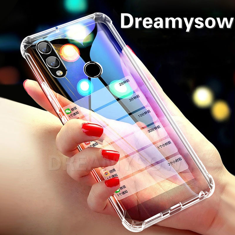 Super Protective Anti-knock Airbag Silicone Case for Huawei P30 P20 Mate20 Pro Honor 8X 8C 10 Lite Clear TPU Cover Nova 4 3 3i
