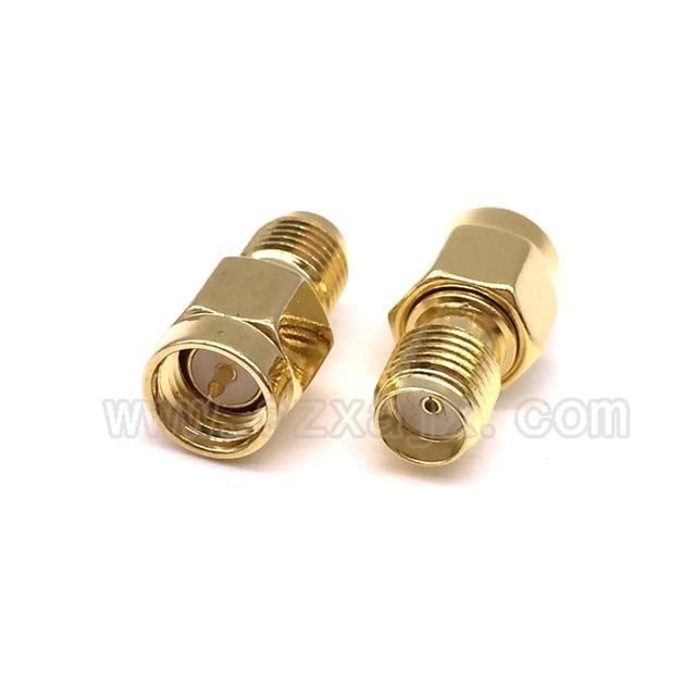 JX connector 2pcs RF coaxial coax adapter SMA male female RP SMA to SMA male RP-SMA Connector