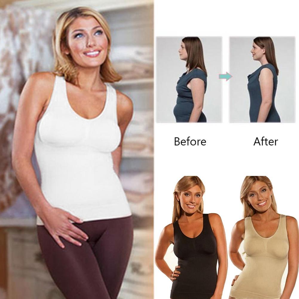 Drop shipping Shaper Slim Up With Bra Tank Top Women Body Shaper Removable Underwear S M L XL XXL Slimming Vest Corset Shape