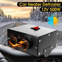 cacoonlisteo DC 12V 500W Car Fan Heater Heating Warmer Windscreen Defroster Demister Fan Auto Vehicle Truck Heater Defroster