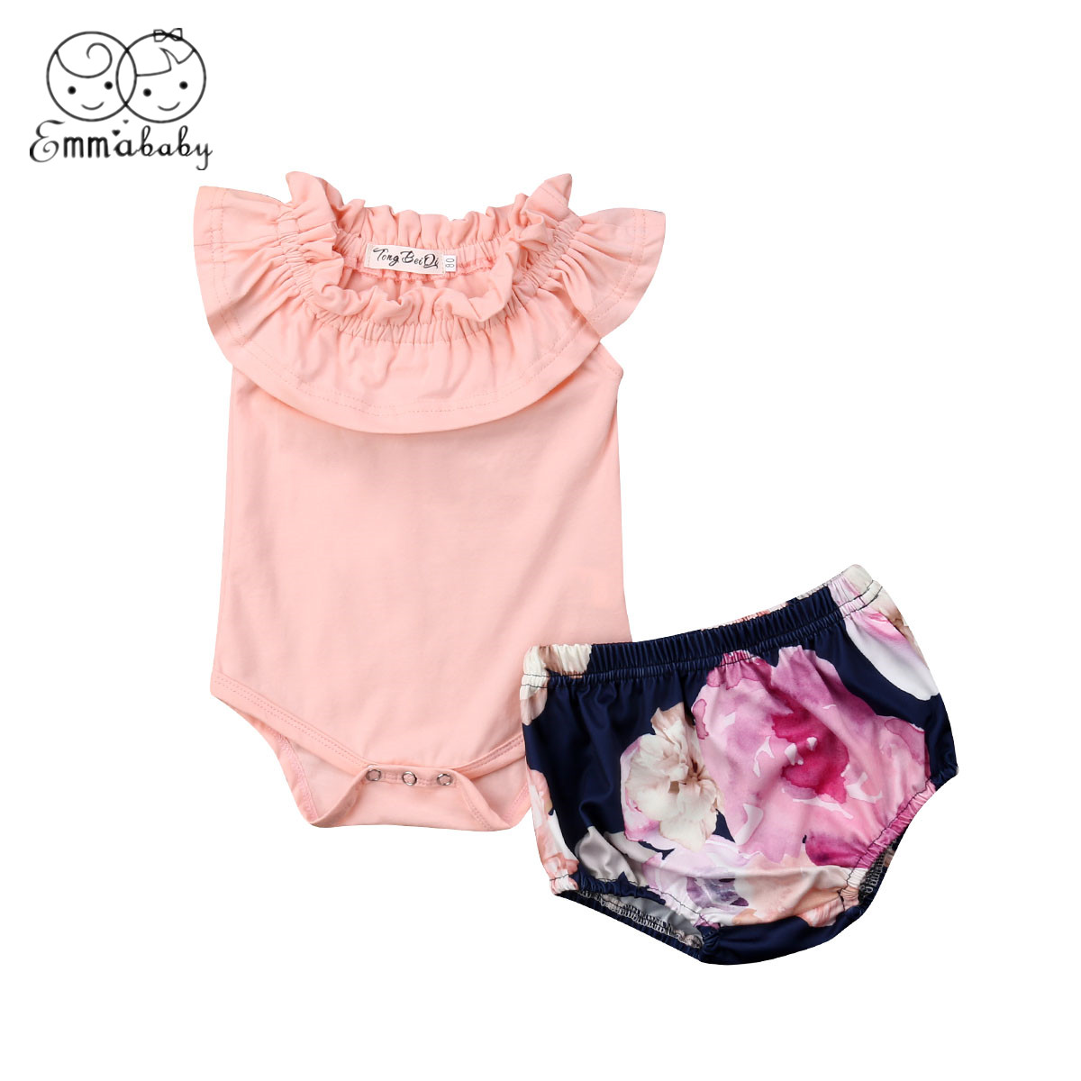 2019 Brand New Baby Girls Newborn Clothes Cotton Romper Bodysuit Jumpsuit Shorts Summer Outfits