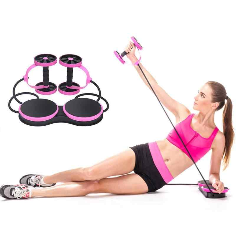 Ab Roller Wheel mit Mat Abdominal Muscle Trainer Taille Bein Arme Elastic Pull