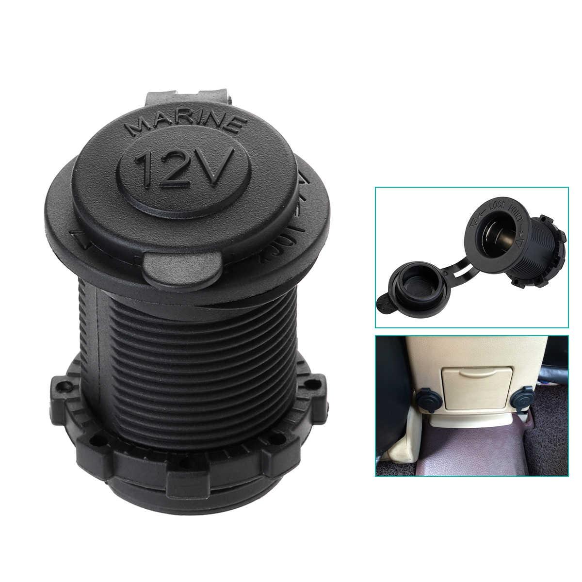 Universal 12V-24V Waterproof Marine Boat Car Motorbike Cigarette Lighter Power Supply Socket Outlet Adapter Plug