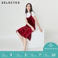Отборное винтажное платье-комбинация из эластичного бархата с разрезом S | 418261511