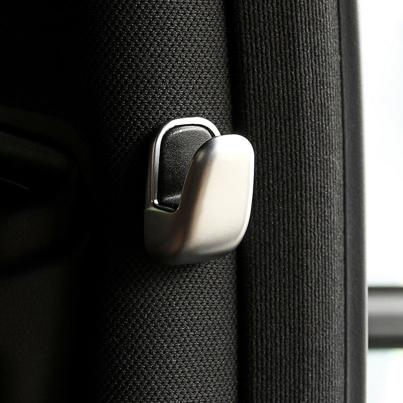 2pcs Car Clothes Hook Cover Clothes Trim Accessories Silver For <font><b>Mercedes</b></font> Benz E <font><b>S</b></font> <font><b>Class</b></font> W212 W213 <font><b>W222</b></font> Hook Chrome Clothing Hook image
