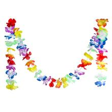 Fashion Hawaiian Color Stripe Flower Decoration Fake Garland Party Banner Supplies