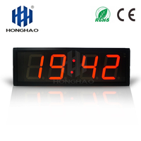 Fedex Free Shipping Indoor digital timer Large Wall Clock 4 Hours Minutes LED Wall Clock with Countdown/up Function