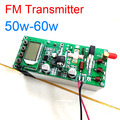 Цифровой ЖК-дисплей fm-передатчик 50 Вт Частота: 87-108 МГц усилитель мощности PLL фазоблокированная петля 50 Вт-60 Вт + радиатор