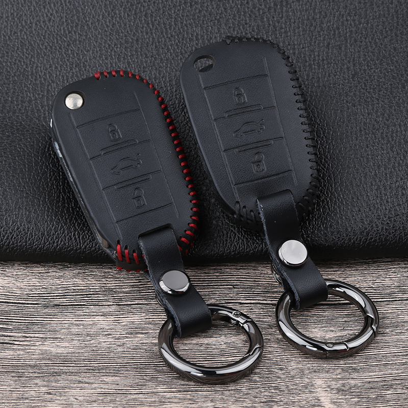 Leather Remote <font><b>Key</b></font> <font><b>Cover</b></font> Case For <font><b>Peugeot</b></font> 2008 3008 508 2008 301 408 <font><b>5008</b></font> 4008 2017 2018 For Citroen C4 C5 C6 C4L DS6 C6 DS5 image