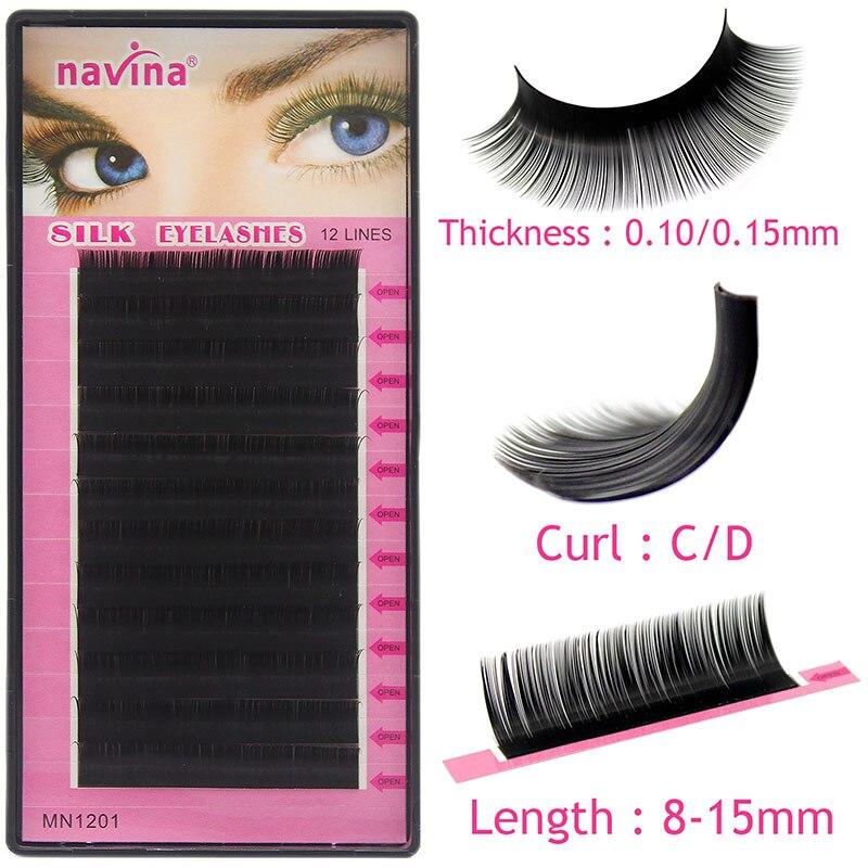 cbdc728bc0c Navina 1pc Natural Faux Silk Eyelash Extension Russian Volume 3D Individual  Mink Eyelashes Makeup False Soft Lashes Fake Cilias-in False Eyelashes from  ...