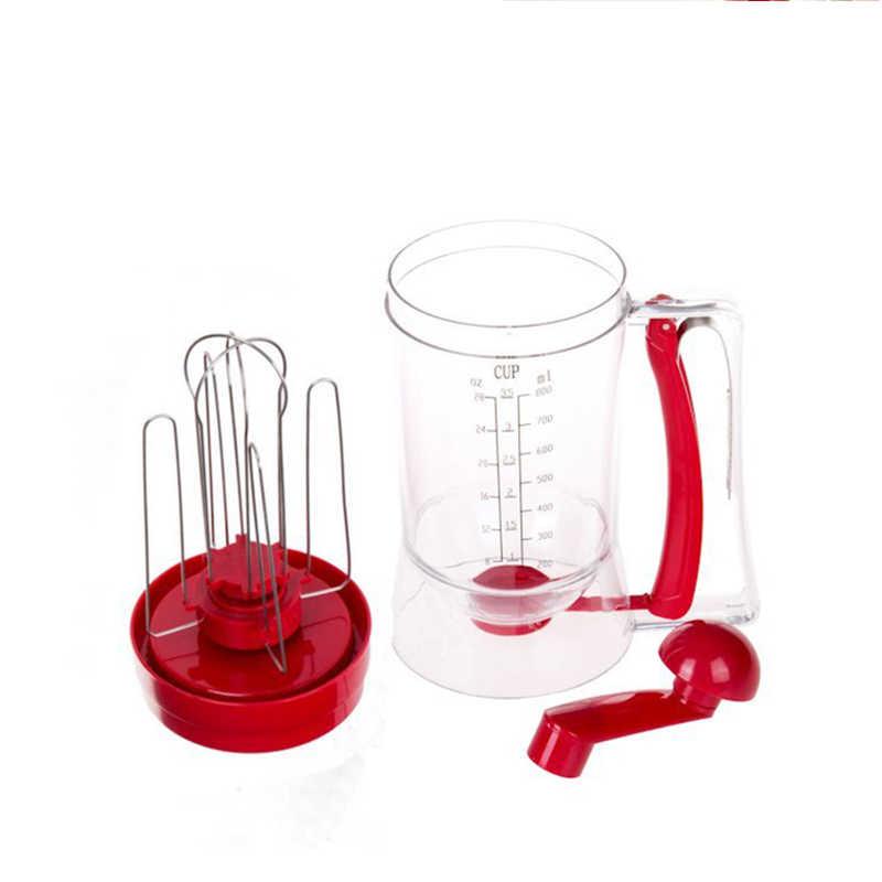 Bakeware 3-em-1 Manual Misturador Batter Dispenser para Cupcakes Muffin Bolo Panqueca Máquina de Waffles com Medição de Cookie ferramentas 010