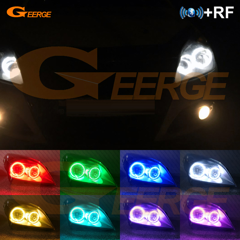 For OPEL Astra H 2004 2005 2006 2007 pro-Facelift Halogen headlight RF Bluetooth Controller Multi-Color RGB led angel eyes kitFor OPEL Astra H 2004 2005 2006 2007 pro-Facelift Halogen headlight RF Bluetooth Controller Multi-Color RGB led angel eyes kit