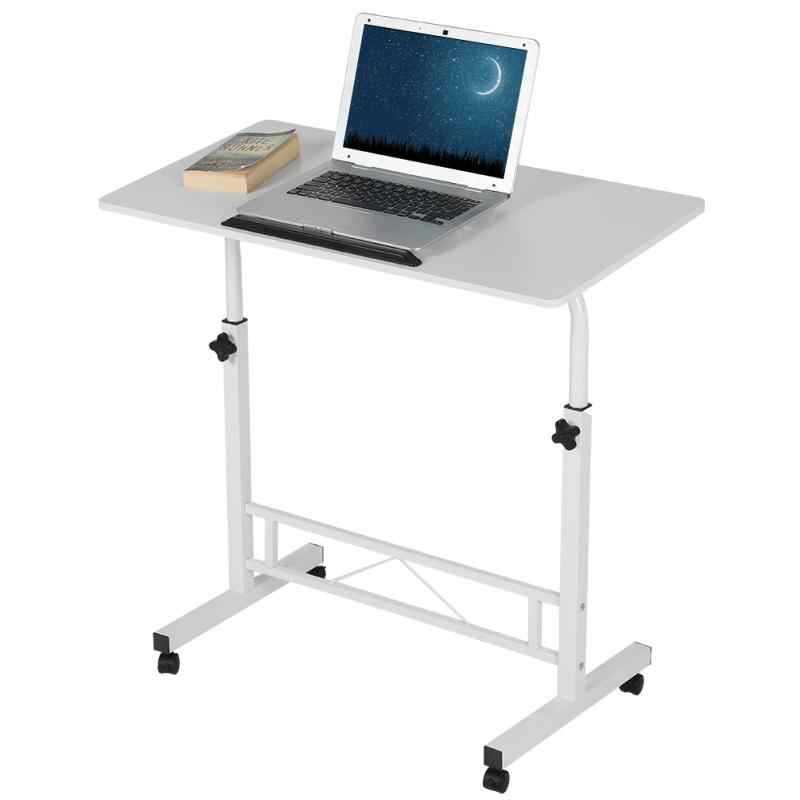 Height Adjustable Laptop Table Computer Desk Stand Bed with Wheels 80*40CM Adjustable Laptop Table