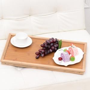 Image 4 - Multifunktions Tragbare Bambus Bett Laptop Schreibtisch Faltbare Portion Tisch wohnzimmer tisch für Tee Studie Frühstück