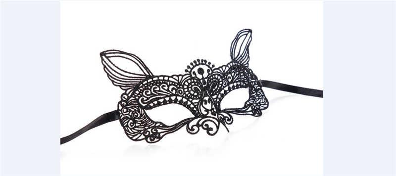 หน้ากากใบหน้าเซ็กซี่ Hollow OUT ผู้หญิง Lace หน้ากาก Face Masquerade Ball พรหมชุด Halloween 15 มีรูปแบบแฟนซีชุด