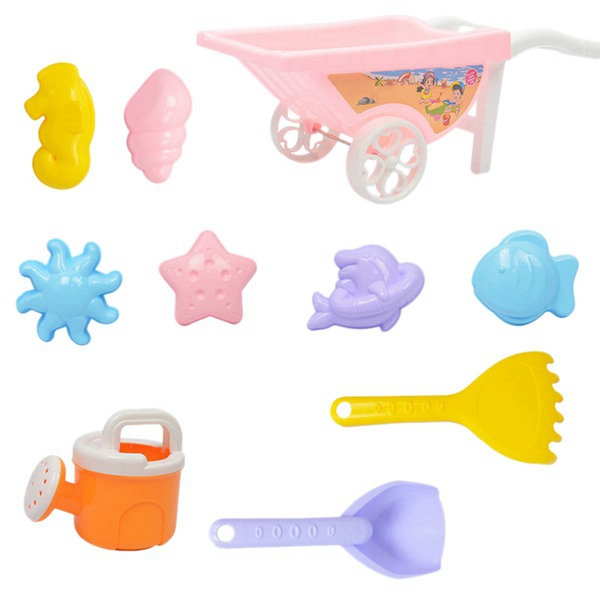 7 Sets Of Children Playing Sand Dredging Tools Playing Water Beach Toys