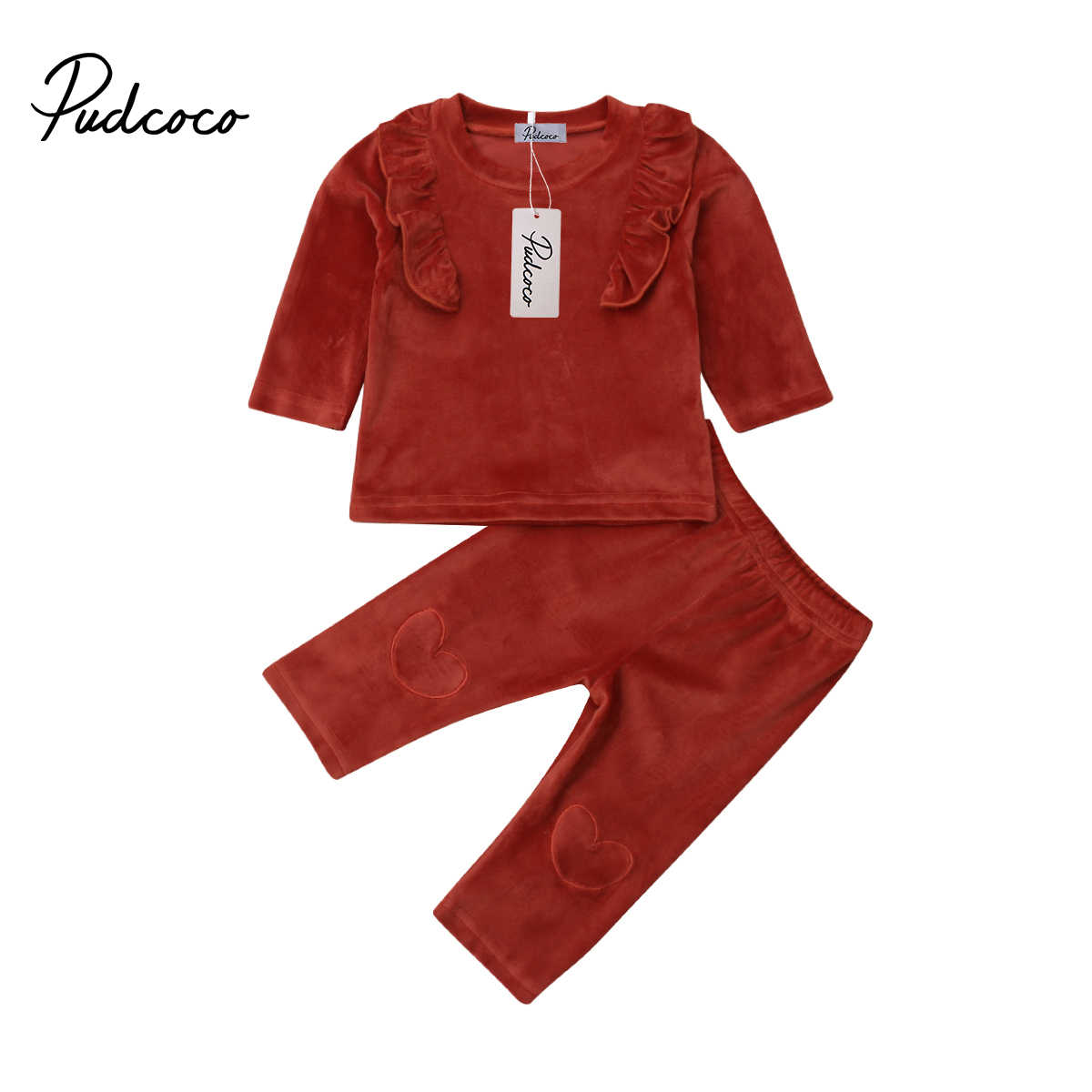 9ac28d0f2 Detail Feedback Questions about Valentine s Day Velvet Tops Ruffle ...