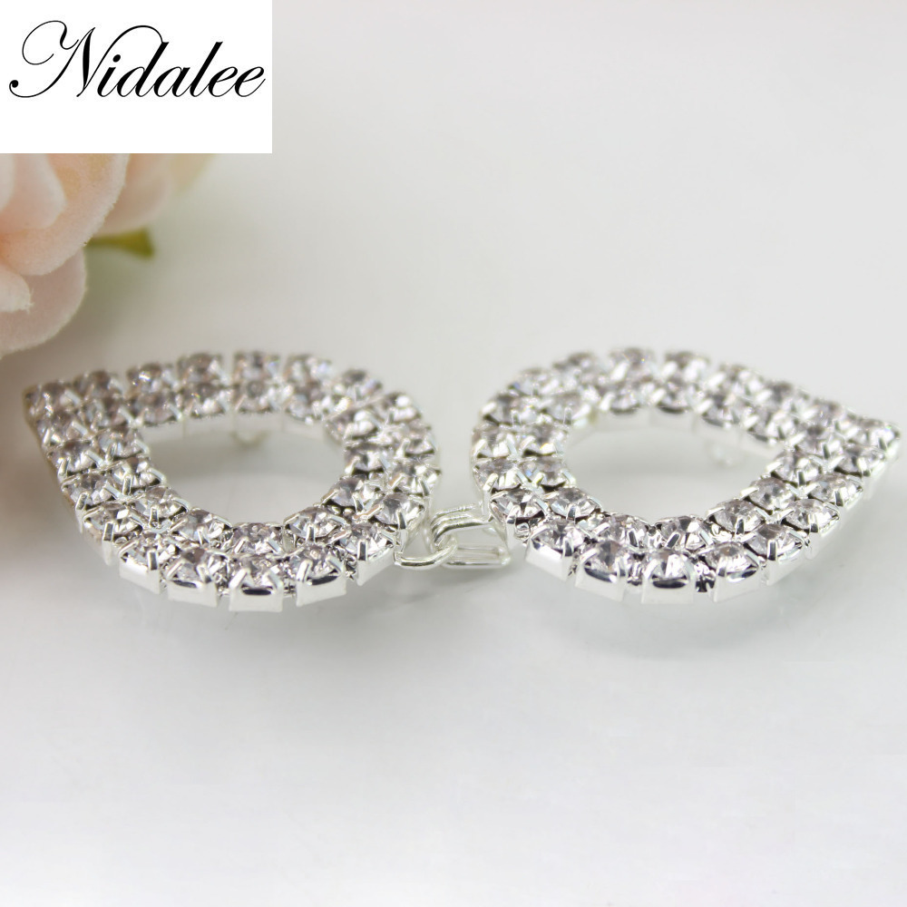 Rational 55mm Heart Gorgeous Clasp Crochet Pair Buckle Hook 23mm Rhinestone Chain Bra Connector Competition Bikini Suit Ladies Overcoat Power Source