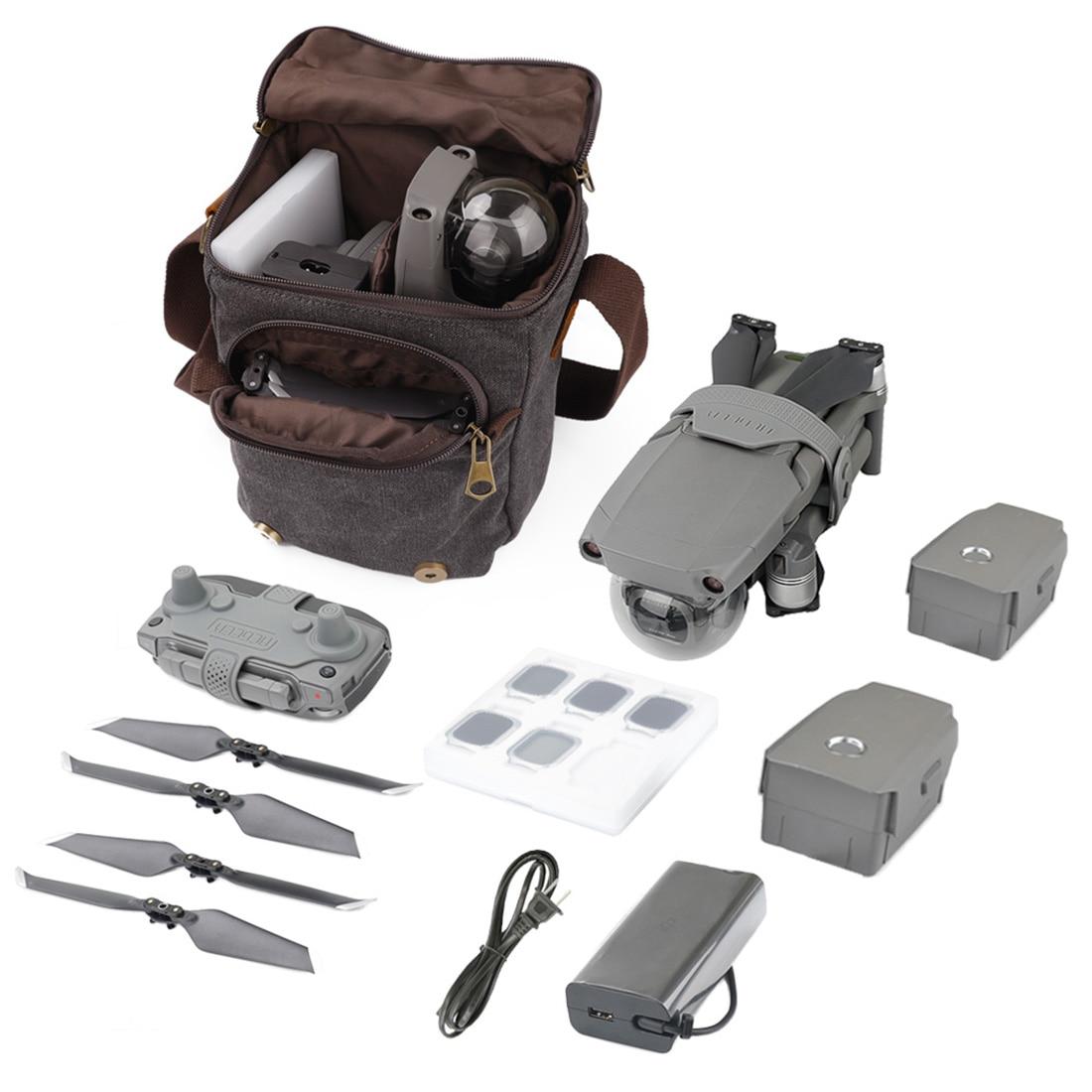 Sac à main étanche en toile de stockage sac à dos pour DJI Mavic 2/Mavic Pro/Mavic Air/Spark Drone caméra de voyage en plein Air sac à dos