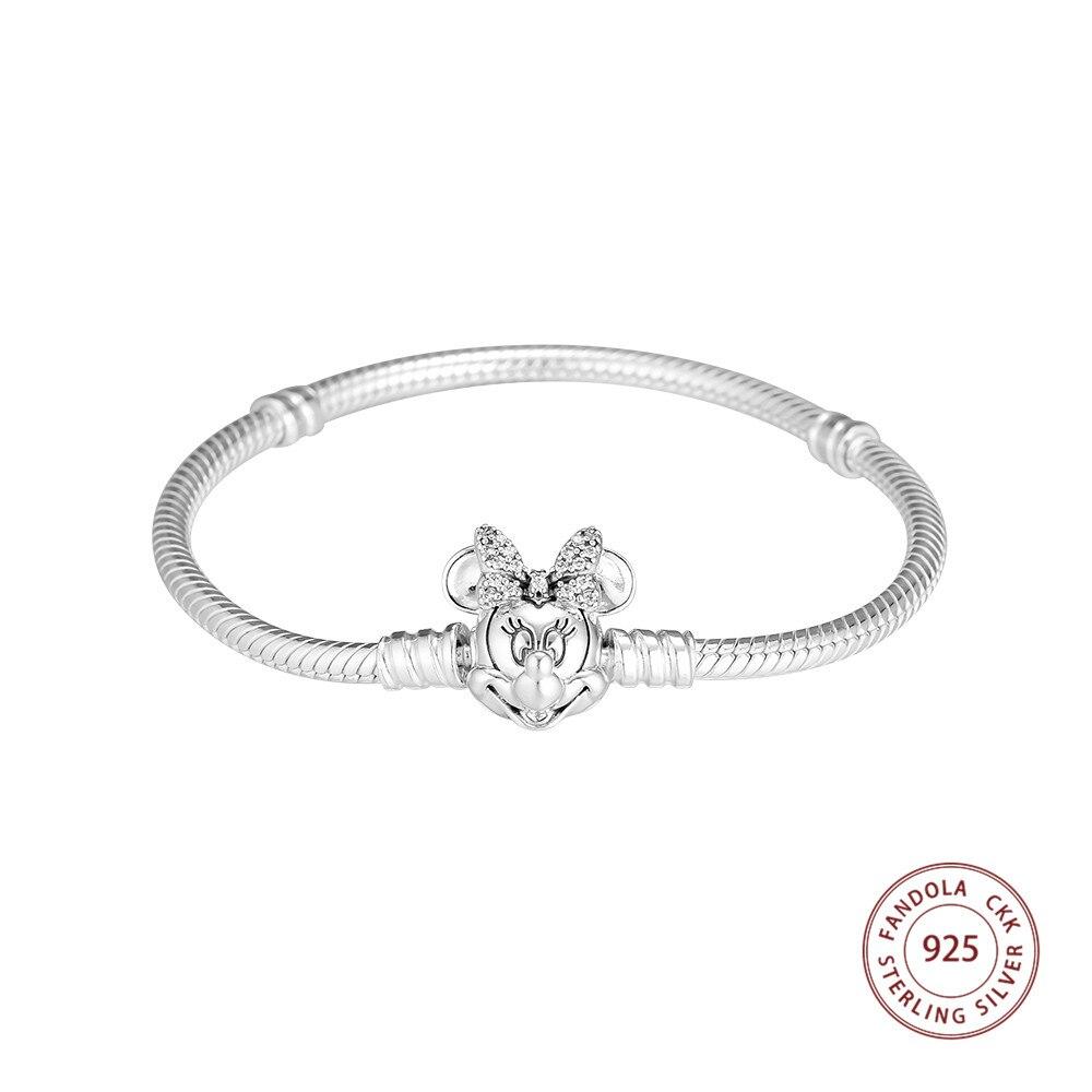 Bracelets et Bracelets en argent Sterling 925 Bracelets pour femme en argent Sterling-bijoux