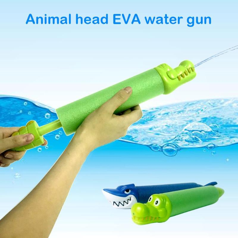 Animal Head Shaped Water Gun Plastic Kids Toys Summer Beach Swimming Water Pistol Children Toy Straight Outdoor Playing Toys New
