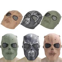 Horror Terminator Casco Maschere CS Paintball Fantasma Creepy Della Resina di Halloween Del Partito di Travestimento Cosplay Skull Ciclismo Pieno Viso Maschera(China)