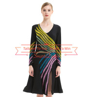 Black Latin Rhythm Swing Salsa Competition Dance Dress latin dance competition dresses latin dresses for competition
