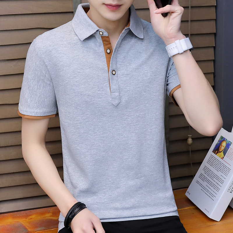 100 Cotton   polo   Shirt Men Trend Teenagers Leisure Self-cultivation Thin   Polo   Shirts For Men 4xl Solid Top Tee poloshirt men