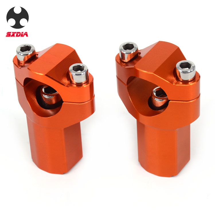 Motorcycle 28mm HandleBar Higher Risers Mount Clamp Thick Adaptor For KTM 125 150 250 300 350