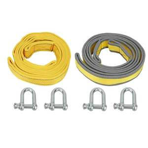 Towing-Rope Tow-Strap Truck Recovery 4M Flat with U-Shape-Hooks for Car Trailer SUV 8-Tons