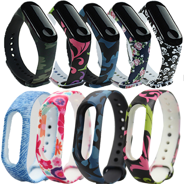 New Smart Bracelet For Mi Band 3 Sport Silicone Colorful Strap for xiaomi Mi band 3 Replacement Wristbands