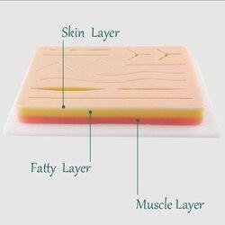 Shunzao barato peles de silicone médica almofada sutura da pele incisão kit treinamento cirúrgico traumático pistola simulação treinamento
