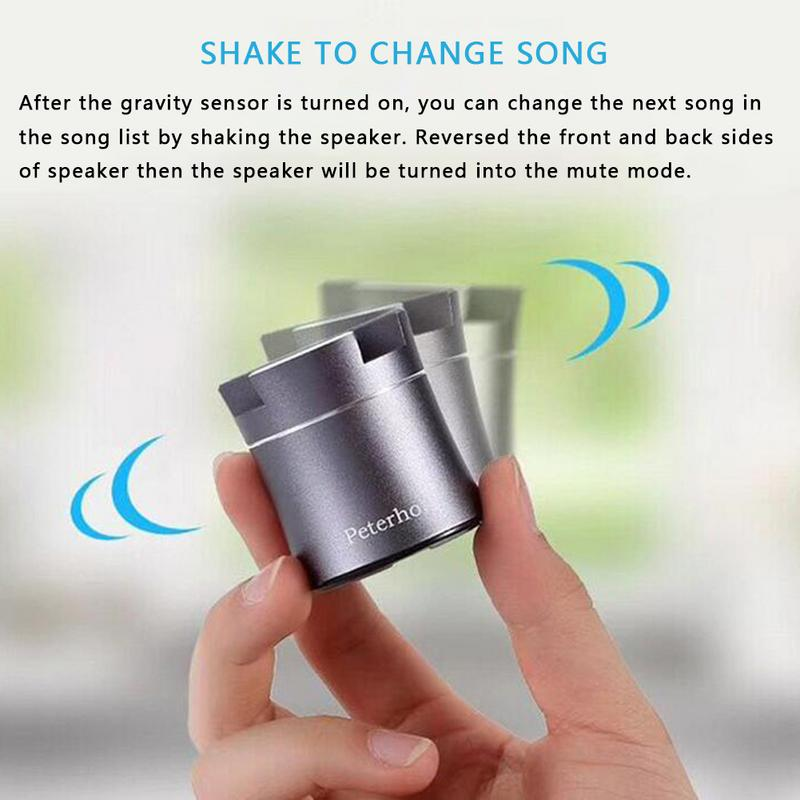 Image 5 - Portable Mini Player Wireless Bluetooth Speaker Series Stereo Hd Hifi Sounds Small Devices Mobile Phone Bracket Shake to change-in Subwoofer from Consumer Electronics