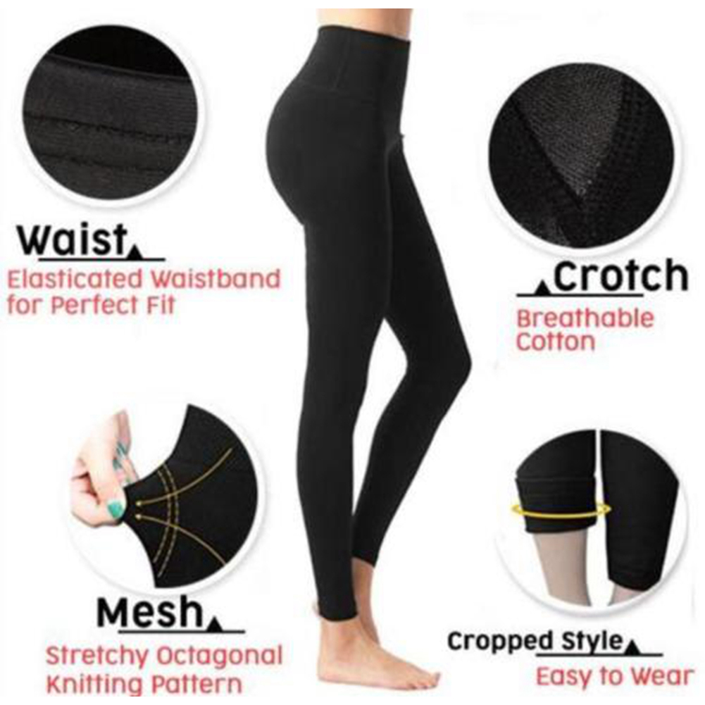 New Slim Leg Shaping 3D Cutting Hip Lift Fat Burning Women Leggings Pressurized Soft Elastic Women Pants Stretchy Body Shaper ~