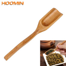 HOOMIN Natural Bamboo Tea Scoop Spoon for Tea Honey Sauce Suger Coffee Tea Leaves Chooser Holder Delicate Retro Style(China)