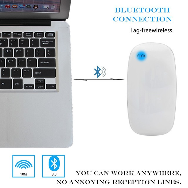 CHUYI Bluetooth Wireless Magic Mouse Slim Arc Touch Mouse Ergonomic Optical USB Computer Ultra thin