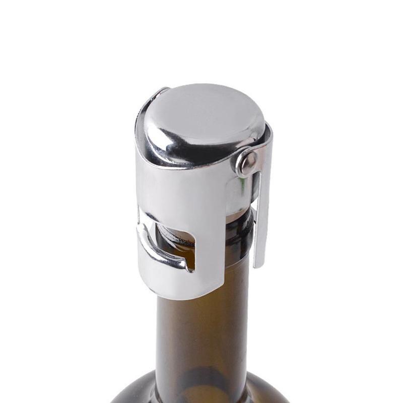 1 Pc Draagbare Rvs Vergrendelingen Champagne Mousserende Wijn Fles Stopper Sealer Bar Keuken Accessoires Een Onmisbare Soevereine Remedie Voor Thuis