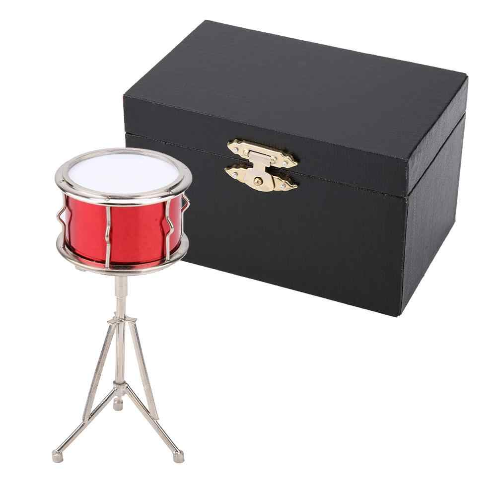 NEW High Quality Miniature Musical Instruments Snare Drum Model Display Mini Musical Ornaments Craft Home Decor