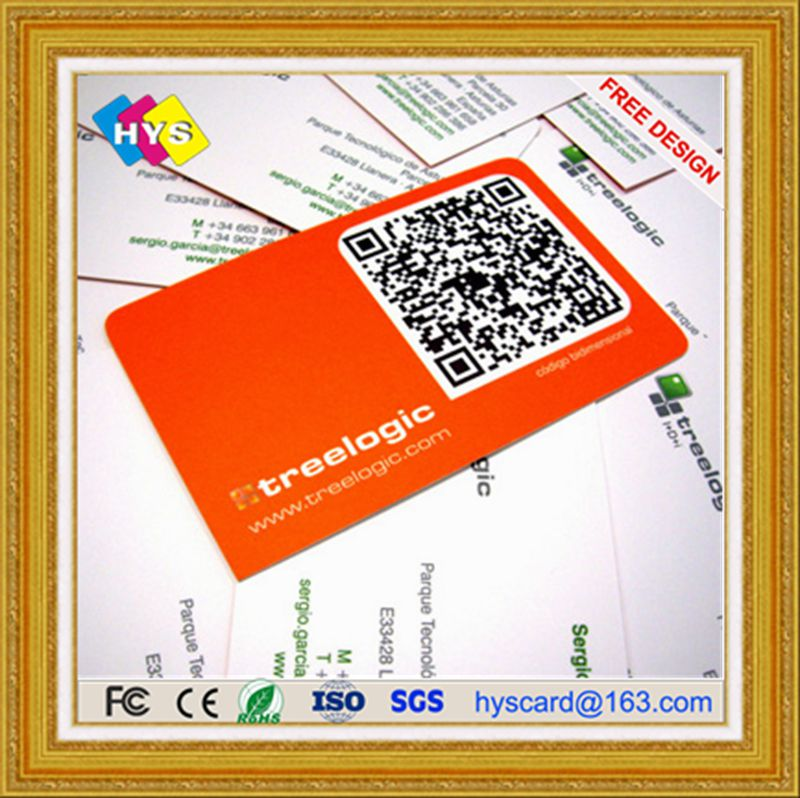 Barcode card and Qr code card ,Business card for smart system -in IC