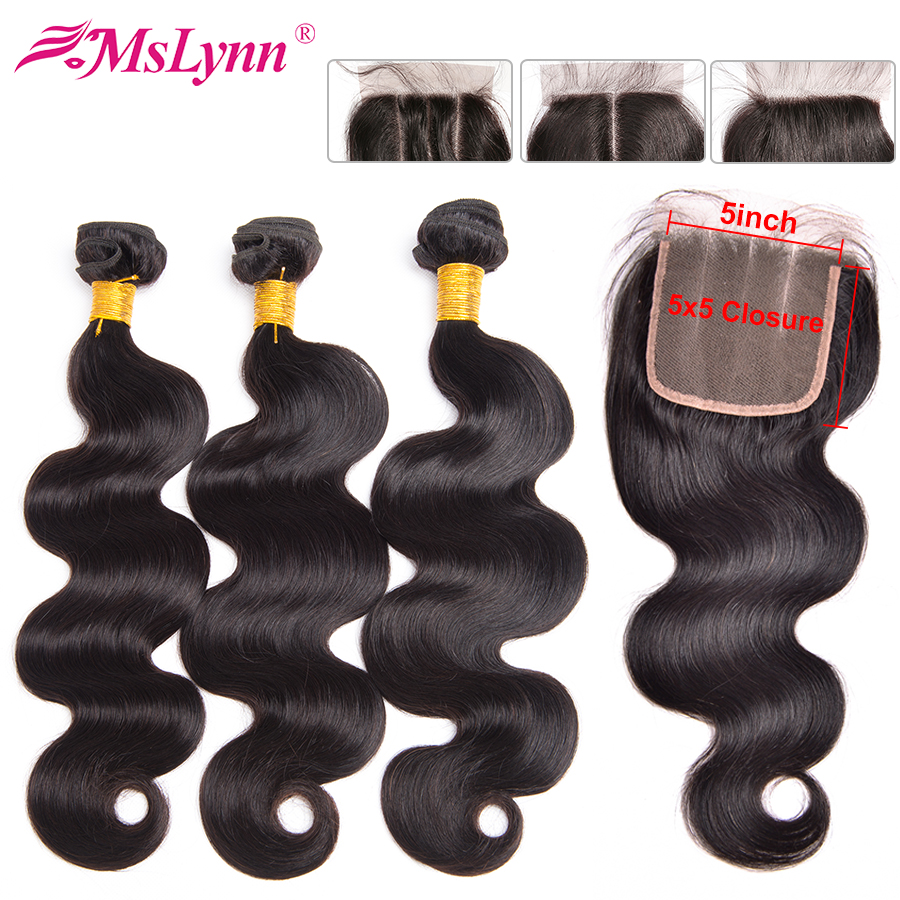 5x5 Closure With Bundles Body Wave Bundles With Closure Peruvian Hair Bundles With Closure Human Hair