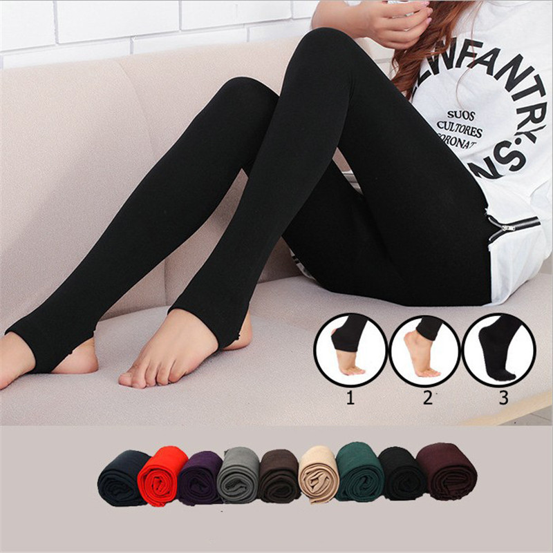 Casual Faux Velvet Warm Winter Leggings Women Knitted Thick Slim Legins For Female Elastic Woman Solid Pants Warm Legging New