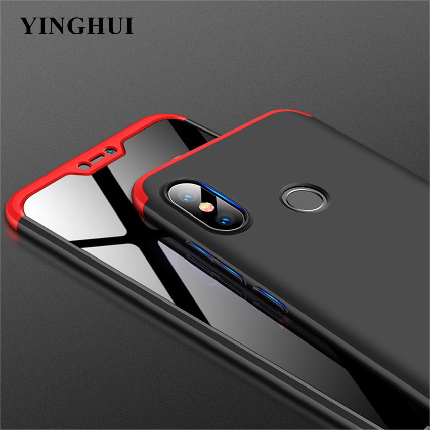 360 Degree Hard Case For <font><b>Xiaomi</b></font> <font><b>Mi</b></font> <font><b>8</b></font> Se 6 Mix Max 2 2s A2 <font><b>Lite</b></font> A1 6x 5x Redmi S2 Y2 Y1 6 6a Note 5 Pro Plus 5a Prime Cover Cases image