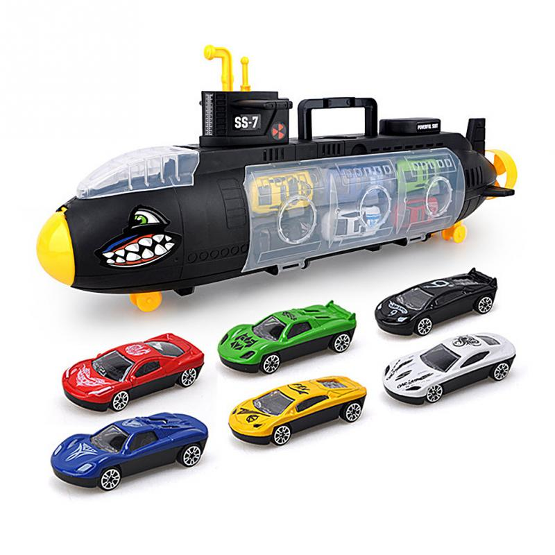 Mini RC Submarine Six Small Cars Children Toys Lot Toddler